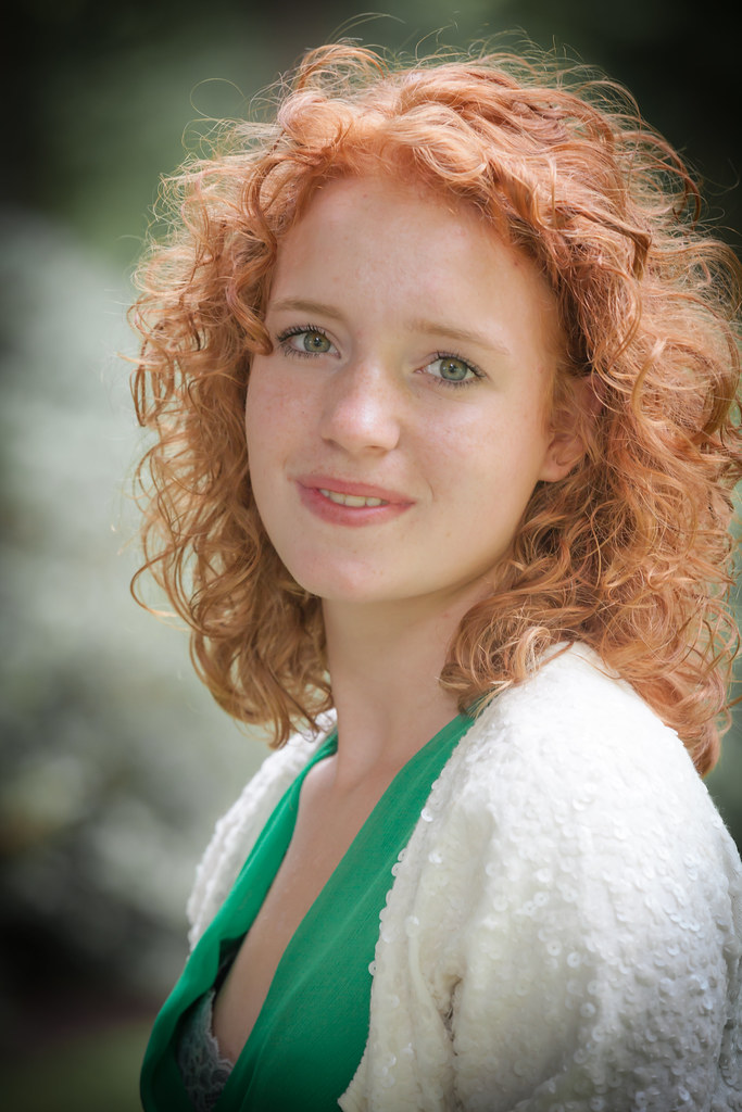 Teen Girl With Natural Red Hair