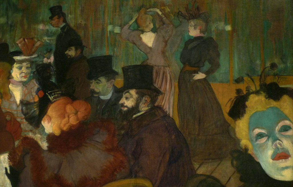 Toulouse lautrec at the moulin rouge with detail of faces - Toulouse lautrec au salon de la rue des moulins ...