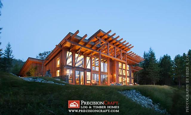 Washington Timber Frame Home Exterior Precisioncraft Tim