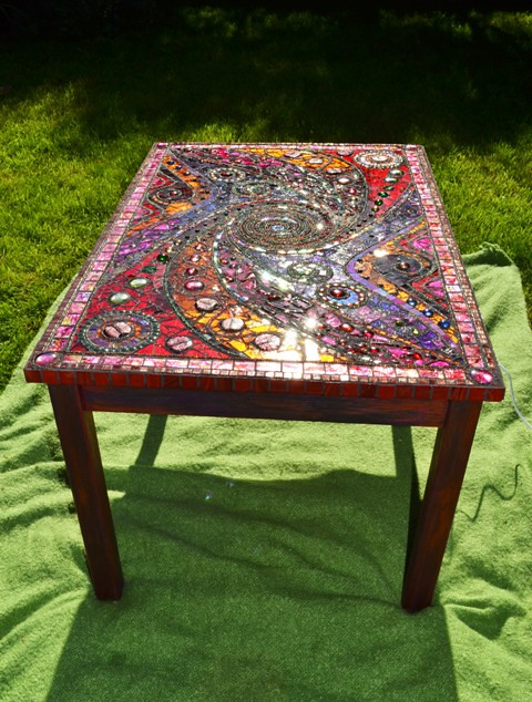 Mosaic Light Box Table 45 Quot X25 Quot Wood Frame Amp Recycled