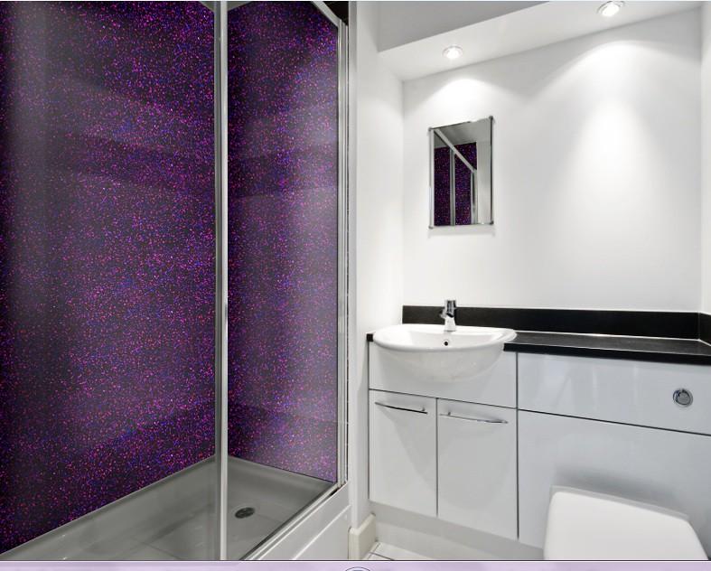 Purple Plum Luxury Bathroom   www.creoglass.co.uk/   CreoGlass ...