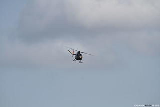 "RAF Leuchars Airshow 2012 - The UH-1H ""Huey"" and OH-6 ""Loach"" perform together 