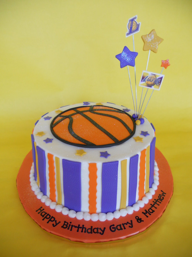 La Lakers Birthday Cake Amy Stella Flickr