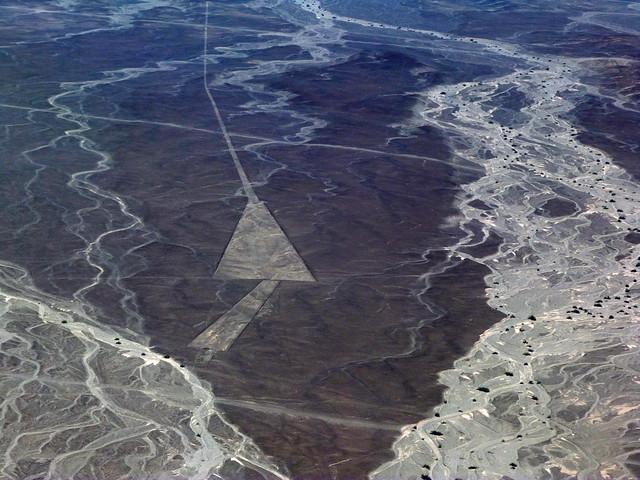 Líneas de Nazca desde una avioneta