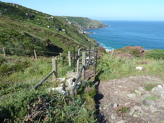 Carn Naun Point and Polgassick and Brea Coves  from Trevalgan  The South West Coast Path Cornwall | by woodytyke