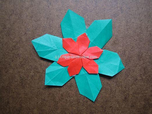 Origami Poinsettia Tutorial Origamiinstructionori Flickr