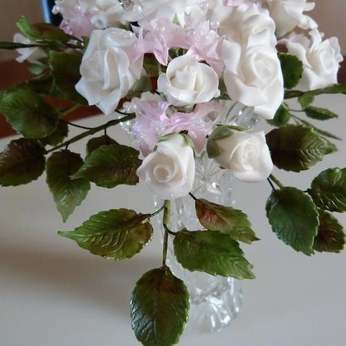 60th Anniversary Sugar Flowers 029 Making 60th Wedding Ann
