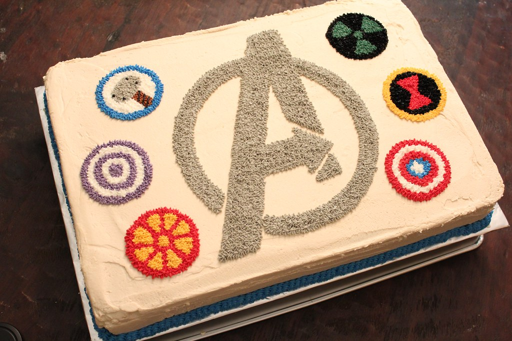 Avengers Birthday Cake Design : Avengers Icons Birthday Cake Design All buttercream ...