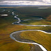 The Colville River runs across northern Alaska.