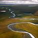The Colville River runs across northern Alaska.