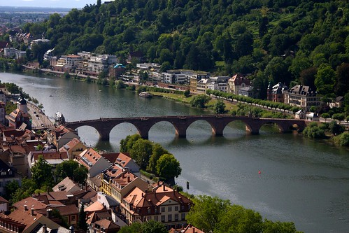 Medival stone bridge in Heidelberg: Old bridge | by ogmueller