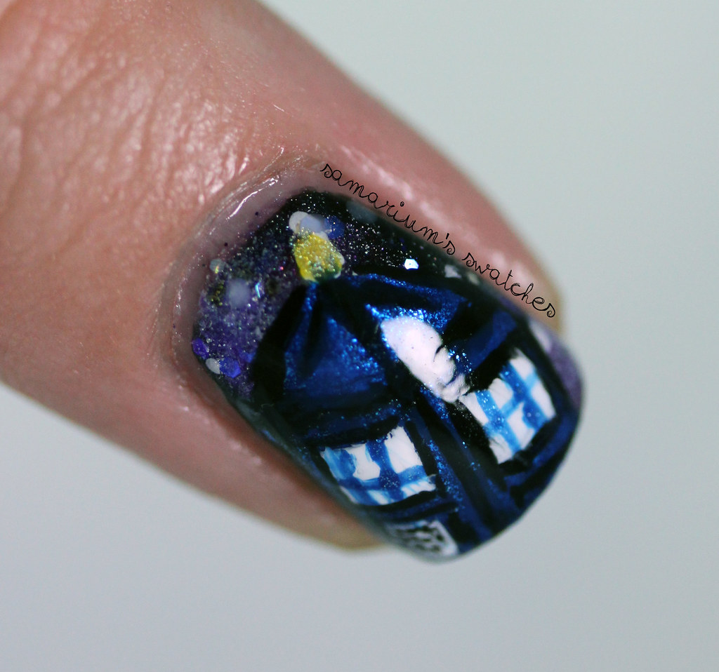 Tardis Nailart Doctor Who Nail Art Sarah Flickr