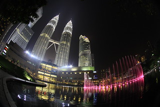 Kuala Lumpur City Center Fountain Full Lights Show | by RickyLoca