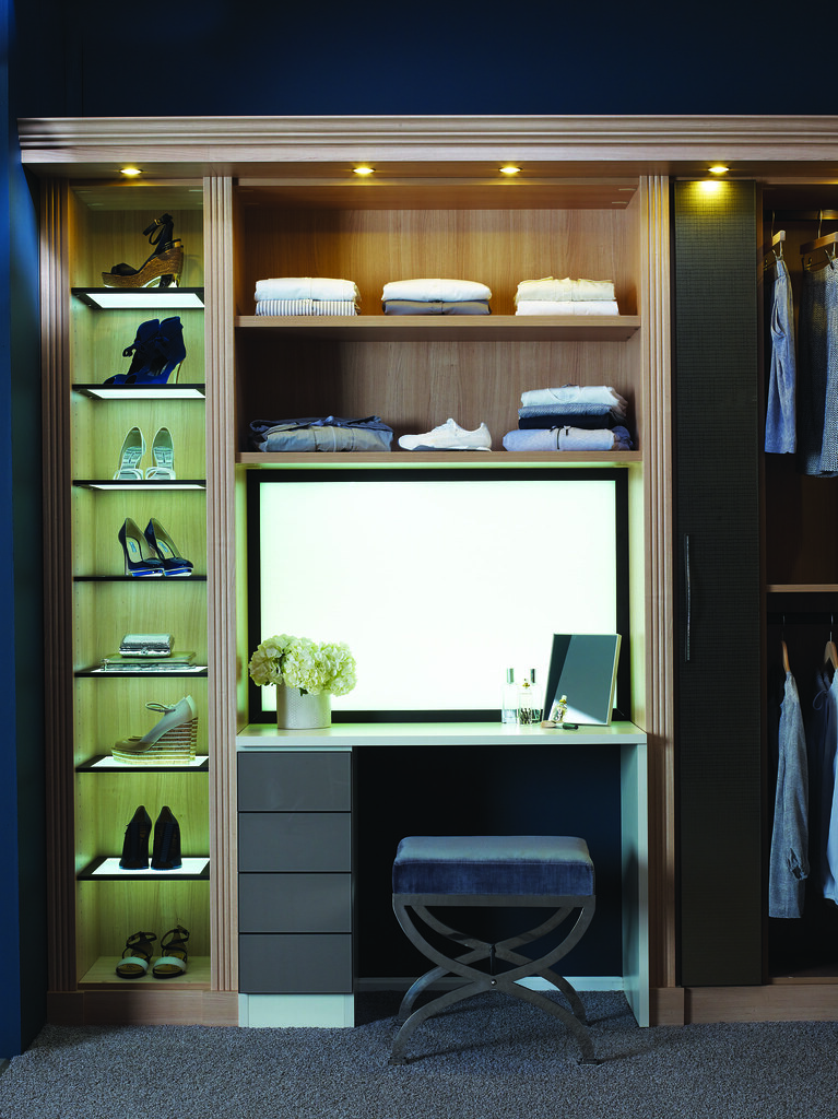 ... Luxe Closet With Vanity Lightbox | By CA Closets
