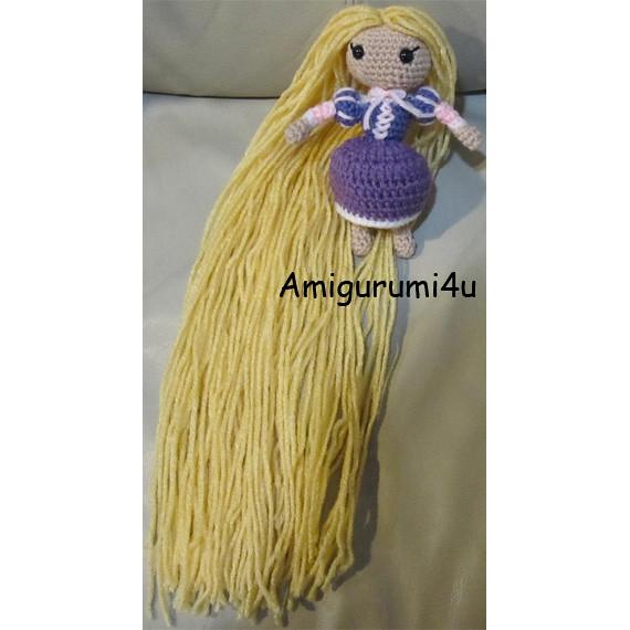 Amigurumi Star Wars Patrones Gratis : Rapunzel Disney Tangled Handmade Amigurumi Crochet Doll ...