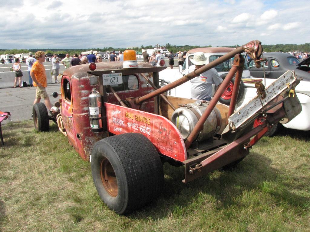 Rat Rod Tow Truck Orange 330 Drag Reunion In Fitchburg