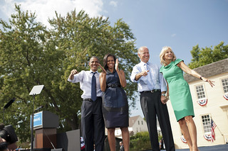 Barack and Michelle Obama and Joe and Dr. Jill Biden in Portsmith, NH - September 7th | by Barack Obama