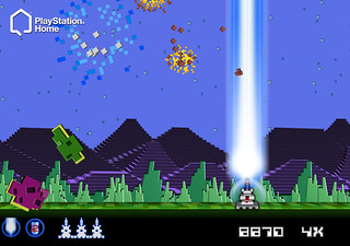 Intellivision in PlayStation Home: Astro Smash | by PlayStation.Blog
