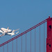 Space Shuttle Endeavour and the Golden Gate Bridge