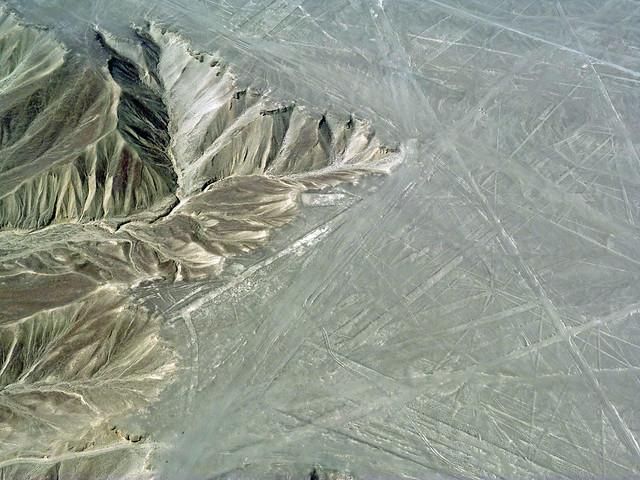 Imagen aérea de las Líneas de Nazca