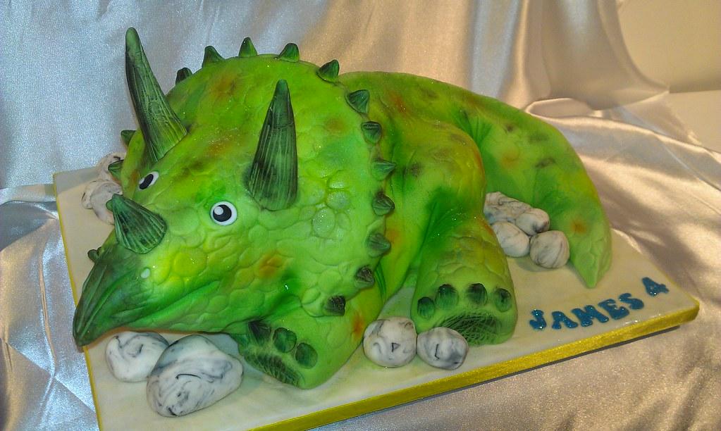 Triceratops Cake Charlotte Morleys Cakes Flickr