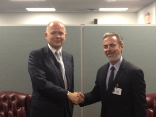 UK Foreign Secretary William Hague meeting with Brazilian Foreign Minister Antonio Patriota at the UN General Assembly | by UKUnitedNations