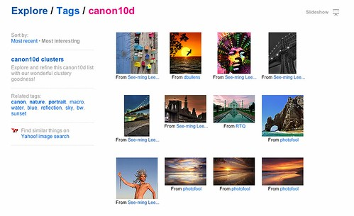 Flickr Explore: Tags: Canon 10D: Sort by Interestingness / Screen Shot 2012-09-30 at 5.32.04 PM / SML Screenshots | by See-ming Lee (SML)