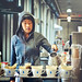 Jenny Yang at the Pour Over Coffee Bar, Blue Bottle Coffee Co ~ Ferry Building Farmers Market, San Francisco