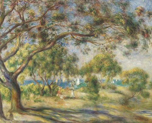 Pierre auguste renoir bois de la chaise noirmoutier 1 for Bois de la chaise noirmoutier