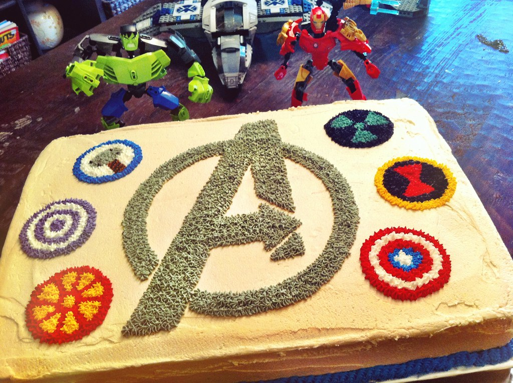 Avengers Ice Cream Cake