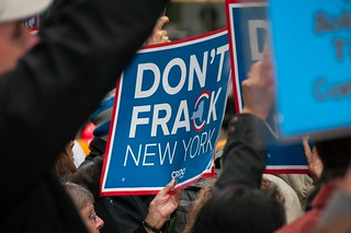 Activists protest fracking outside Gov. Cuomo's office, New York | by CREDO.fracking