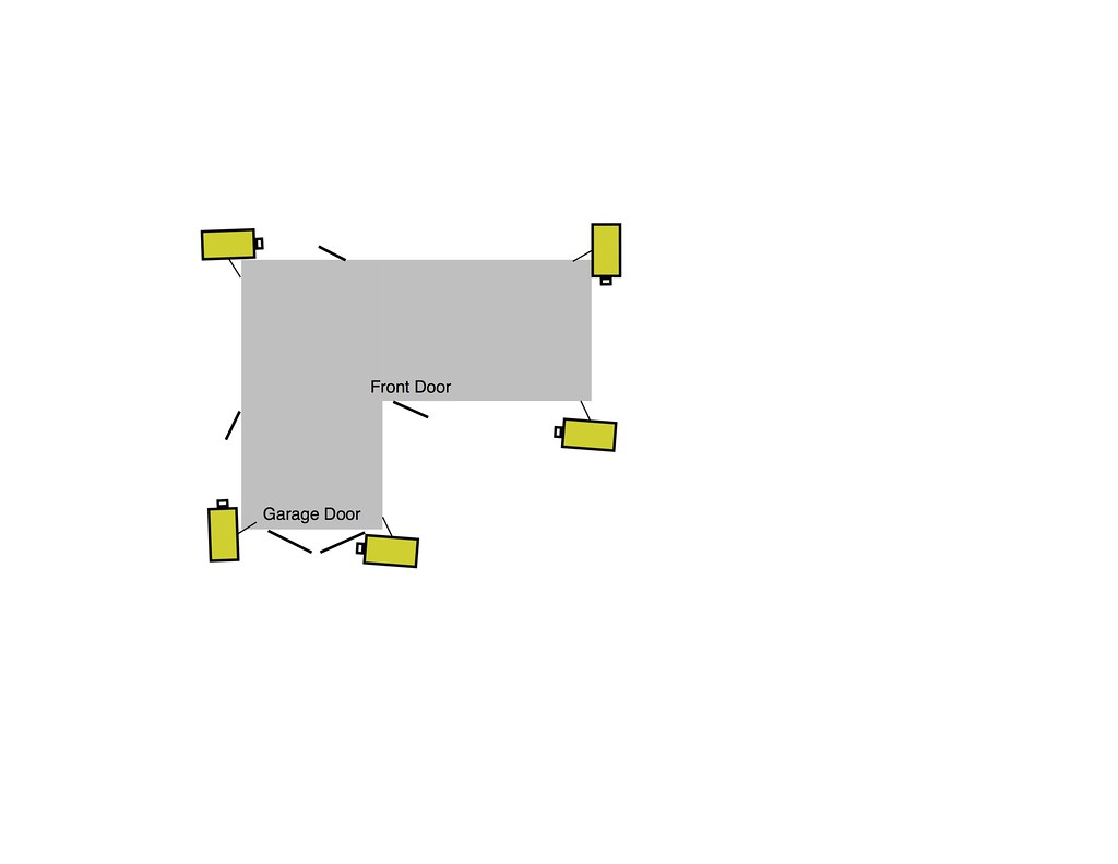 Home    Security    Camera Placement   Here is a    diagram    of half