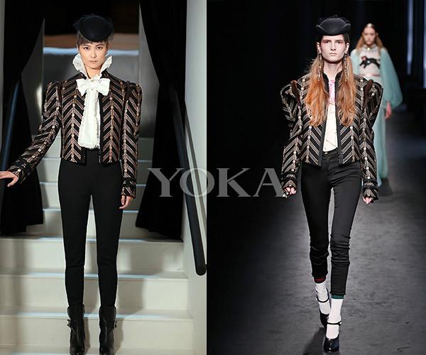 Li Yuchun in Gucci fall/winter 2016