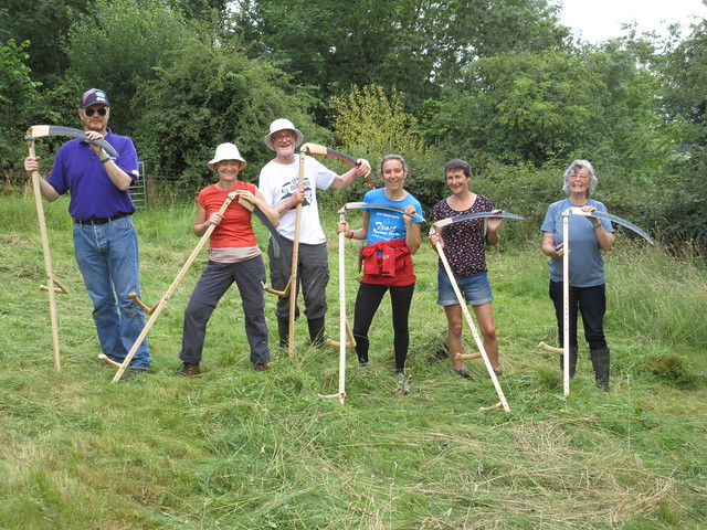 Learn to scythe Cumbria Wildlife Trust