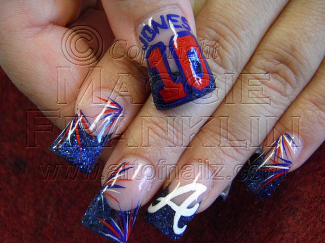 Atlanta Braves Nail Art On Rockstar Nails Maggie Franklin Flickr
