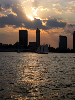 sunset and sails, from a bench in Battery Park City, 9/1/12 | by KLGreenNYC
