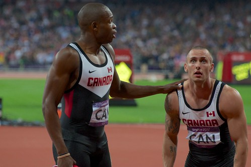 Oluseyi Smith and Jared Connaughton learn of their 4x100m disqualification | by ciamabue