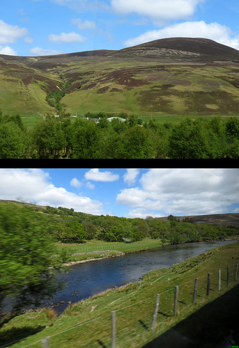 20120601_03 Hills & river seen from train between Inverness & Thurso, Scotland | by ratexla