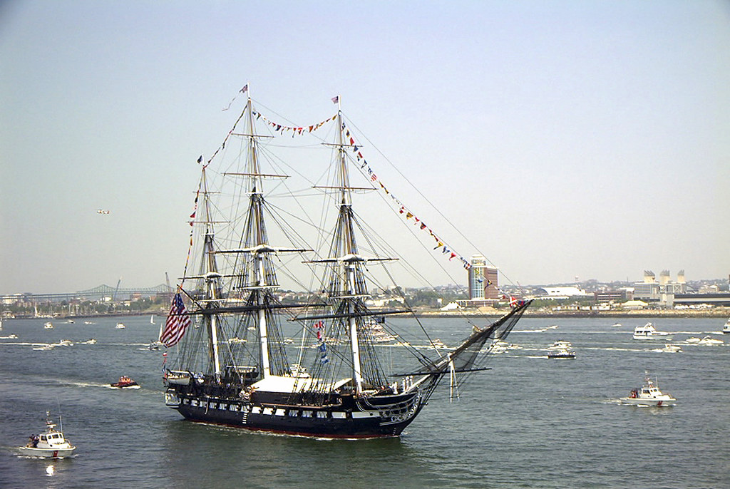 Sailing Frigate USS Constitution, July 4th, 2002 | Boston ...