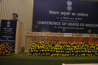 Prime Minister Dr. Manmohan Singh addressing the Head of Missions' Conference in New Delhi (September 14, 2012) | by MEAphotogallery