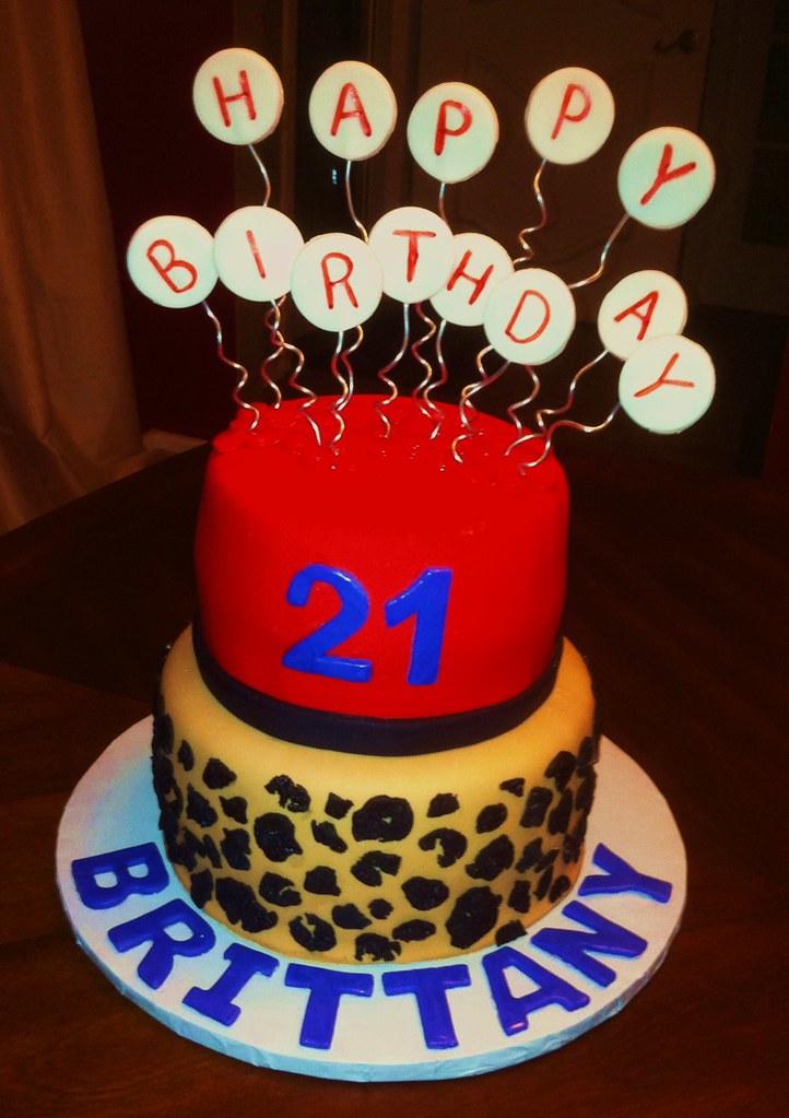 Admirable 21St Birthday Cheetah Cake 83 Charlie Cakes Flickr Personalised Birthday Cards Vishlily Jamesorg