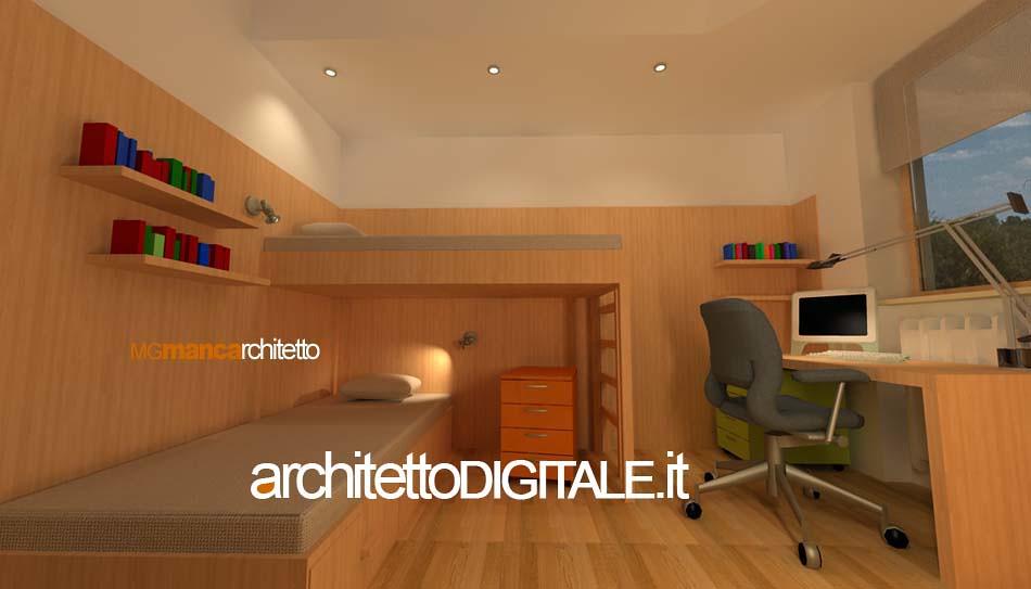Progetto di interni di un appartamento di 75 mq camera b for Esempi di ristrutturazione appartamento