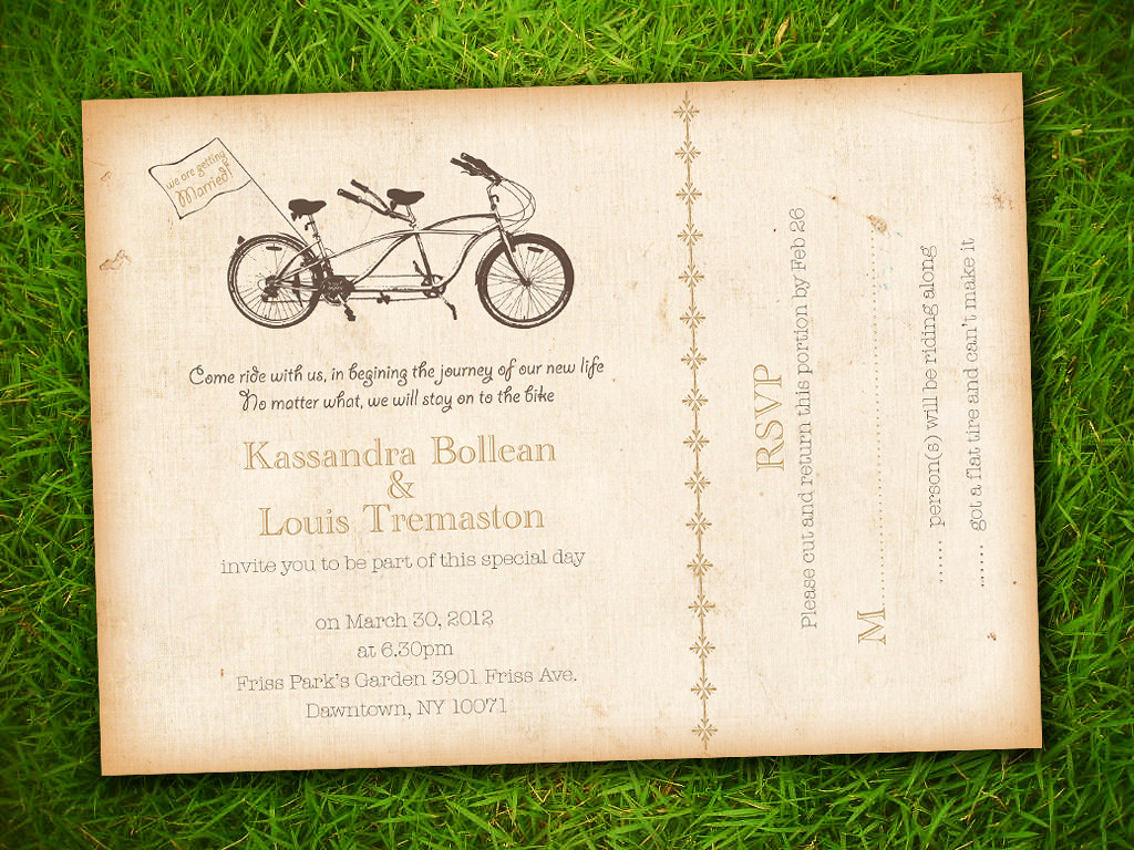 Vintage Shabby Chic Brown Tandem Bicycle Customizable Wedd… | Flickr