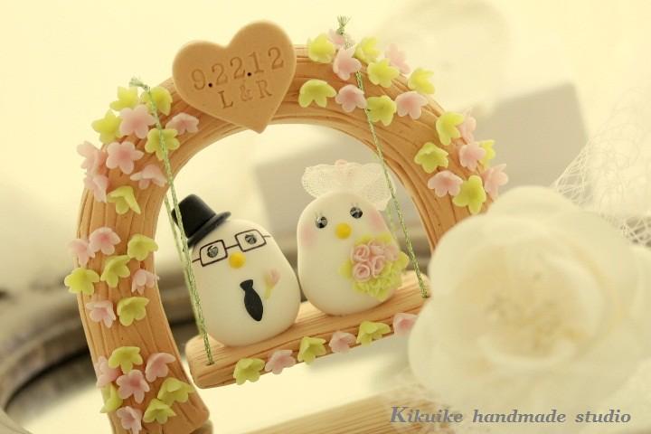 Wedding Cake Topper -Handmade love birds with love flower … | Flickr