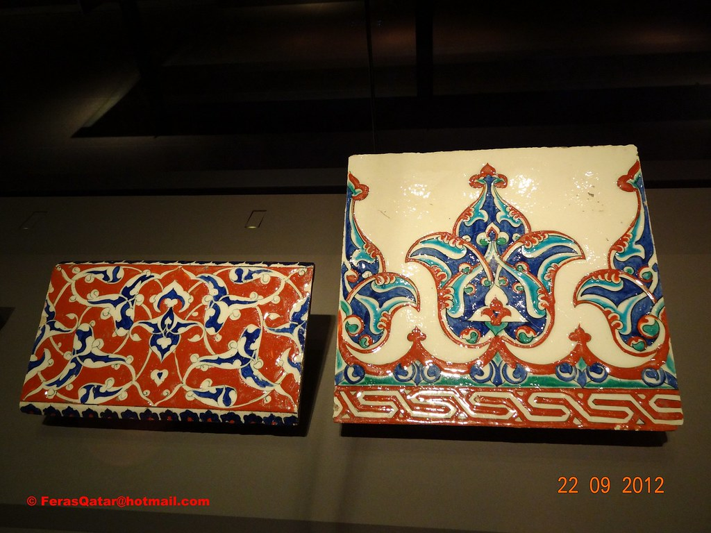 Ceramic tile from (Turkey) shown in Museum of Islamic Art … | Flickr
