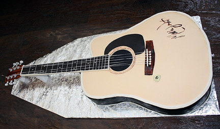 Acoustic Guitar Cake Images : Acoustic guitar cake Acoustic guitar cake for a groom ...