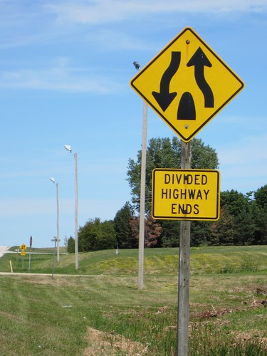 Divided Highway Ends, ...