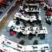 Looking down on the newsroom