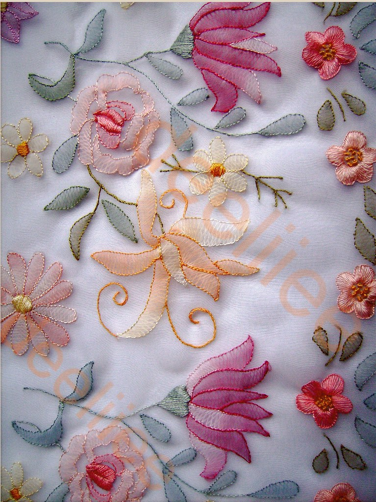 This is shadow work done on organdy used cotton