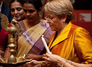UN Women Executive Director Michelle Bachelet inaguarates the National Leadership Summit in Jaipur, India on 4 October 2012 | by UN Women Gallery